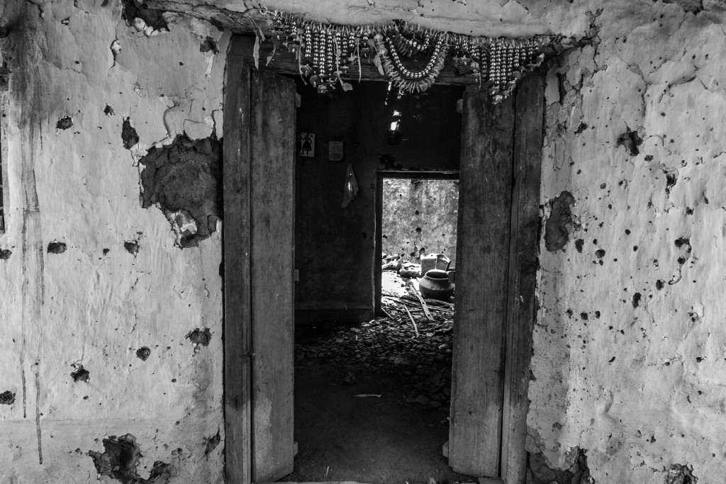The home in Horekasa where Rajita had taken refuge and was killed. Credit: Javed Iqbal