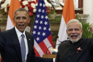 Prime Minister Narendra Modi with US President Barack Obama. Credit: Reuters/Files
