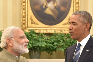Washington: Prime Minister Narendra Modi with  US  President Barack Obama  during a meeting in the Oval Office of the White House in Washington on Tuesday. Credit: PTI