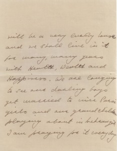 """... will be a very lovely house and we shall live in it for many, many years with Health, Wealth and Happiness. We are longing to see our darling boys get married to nice Parsi girls and our grandchildren playing about in Mehrangir. I am praying for it everyday..."" Meherbai to Homi Bhabha, December 11, 1941. Credit: TIFR Archives"