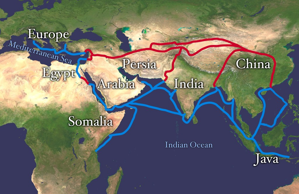 Silk Route. Credit: Wikimedia Commons