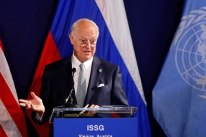 UN special envoy on Syria Staffan de Mistura speaks during a news conference in Vienna, Austria, May 17, 2016.     Credit: Reuters/Leonhard Foeger