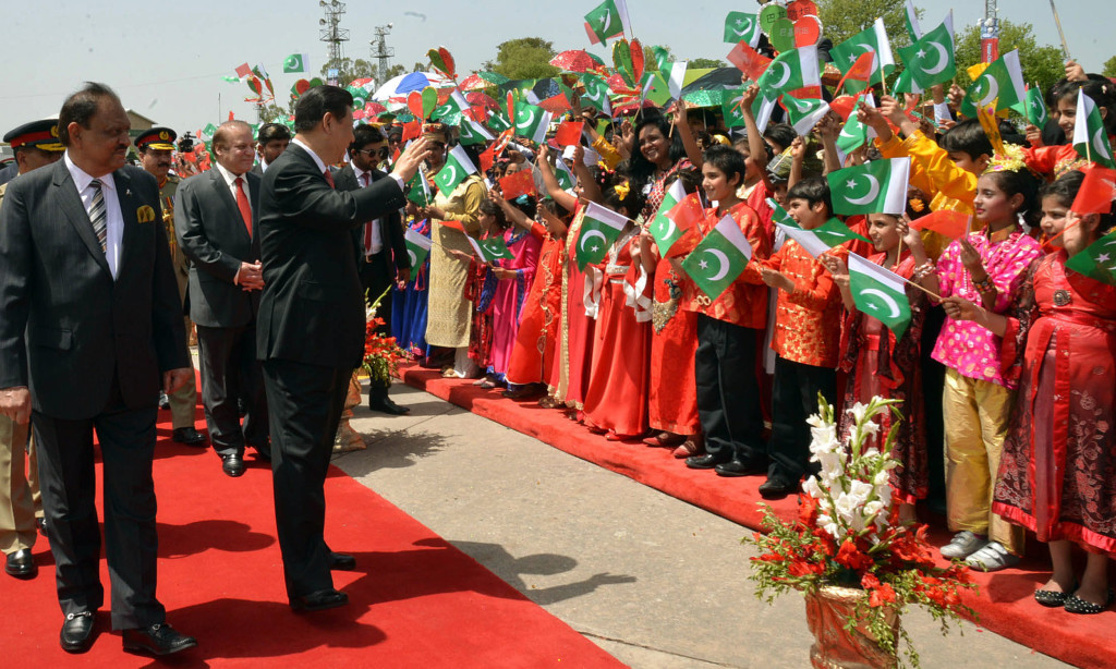 Chinese President Xi Jinping in Islamabad in 2015. Credit: Tanveer Shehzad, White Star.