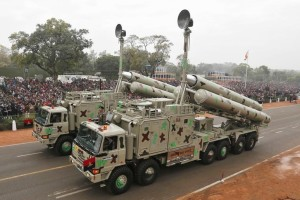 Indian Army's BrahMos weapon systems are displayed during a full dress rehearsal for the Republic Day parade in New Delhi January 23, 2015. Credit: Reuters/Adnan Abidi.