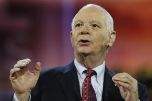 Senator Ben Cardin (D-MD) addresses the American Israel Public Affairs Committee (AIPAC) policy conference in Washington March 1, 2015. Credit: Reuters/Jonathan Ernst