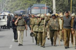 Haryana police during the Jat agitations. Credit: PTI/Files