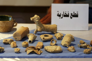 Antiquities seized in a raid on Islamic State fighters in Syria were returned to the Iraqi government by the United States. Credit: Thaier Al-Sudani/Reuters