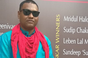 Hansda Sowvendra Shekhar, the adivasi writer from Jharkhand. Credit: Youtube