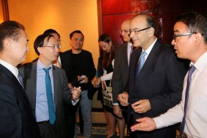Finance Minister Arun Jaitley at the Invest in India Business Forum in Beijing on Friday. Credit: PTI