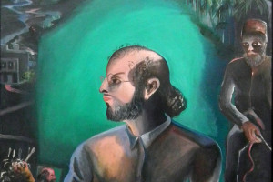 Salman Rushdie painted by Bhupen Khakhar. Credit: Flickr