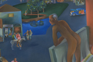 You Can't Please All, by Bhupen Khakhar, also the title of the ongoing retrospective of his works at the Tate Modern, London. Credit: The Conversation