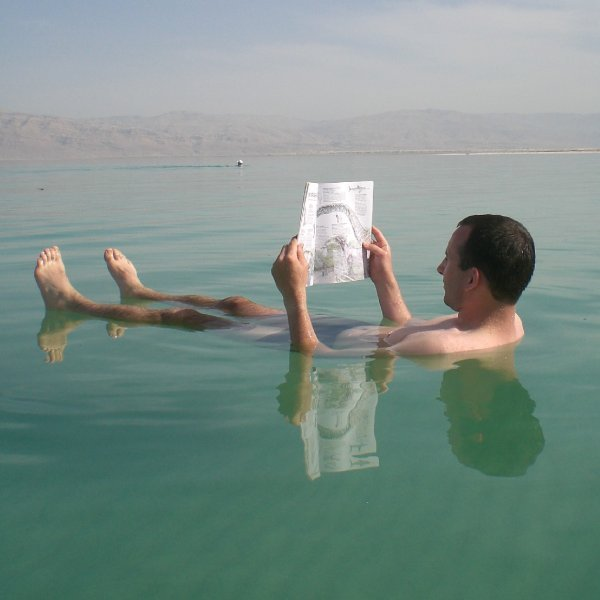 One of the many things the Dead Sea is known for. Credit: Wikimedia Commons