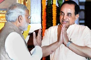 File photo of Subramanian Swamy and Prime Minister Narendra Modi. Credit: PTI
