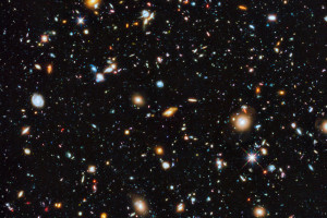 Astronomers using the Hubble Space Telescope have captured the most comprehensive picture ever assembled of the evolving Universe — and one of the most colourful. The study is called the Ultraviolet Coverage of the Hubble Ultra Deep Field. Caption and credit: hubble_esa/Flickr, CC BY 2.0