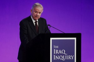 Sir John Chilcot presents The Iraq Inquiry Report at the Queen Elizabeth II Centre in Westminster, London, Britain July 6, 2016. Credit: Reuters/Jeff J Mitchell/Pool