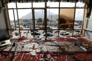 Broken glass and debris are seen inside a resturant a day after a suicide attack in Kabul, Afghanistan July 24, 2016. Reuters/Files