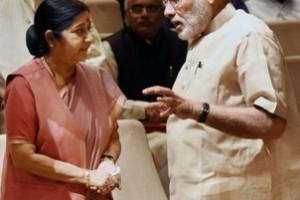 Sushma Swaraj and Narendra Modi. Credit: PTI