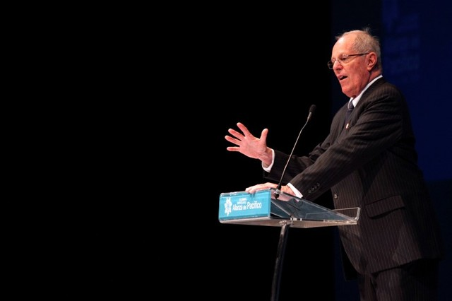 Peru's President-elect Pedro Pablo Kuczynski delivers a speech during a business summit at the XI Summit of the Pacific Alliance in Frutillar, Chile June 30, 2016. Credit: Reuters/Cristobal Saavedra.