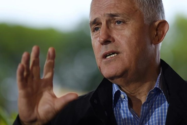 Australian Prime Minister Malcolm Turnbull speaks to the media during a news conference on the Great Barrier Reef in Townsville, Australia, June 13. Credit: Reuters/Lukas Coch