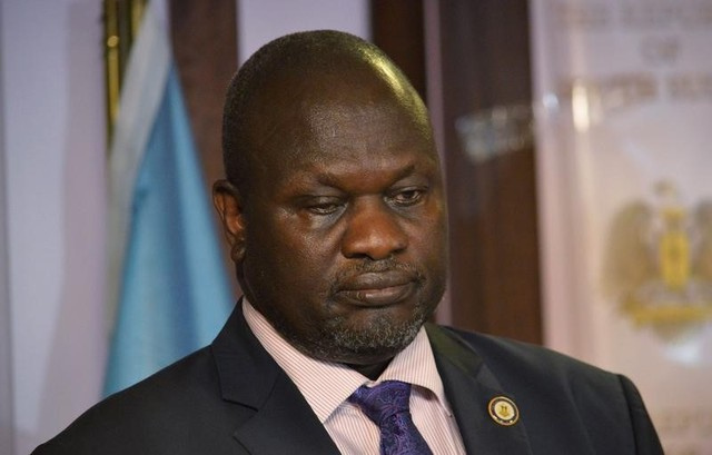 South Sudan First Vice President Riek Machar attends a news conference at the Presidential State House following renewed fighting in South Sudan's capital Juba, July 8, 2016. Credit: Reuters/Stringer