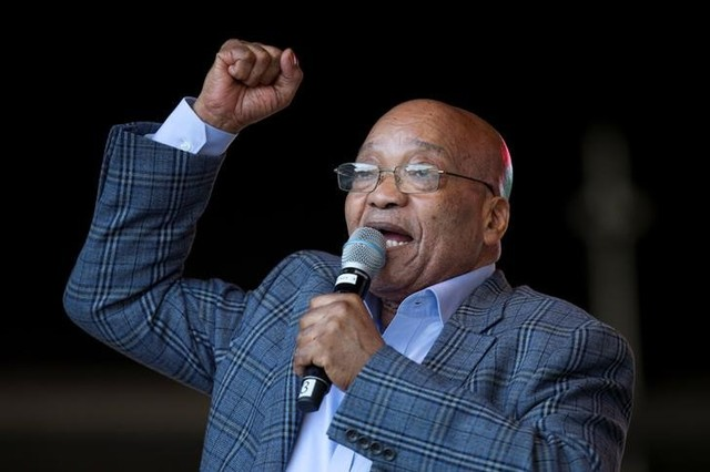 South Africa's President Jacob Zuma speaks during an African National Congress youth rally in Durban, South Africa, June 25, 2016. Credit: Reuters/Rogan Ward
