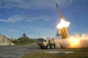 A Terminal High Altitude Area Defense (THAAD) interceptor is launched during a successful intercept test, in this undated handout photo provided by the US Department of Defense, Missile Defense Agency. US Department of Defense, Missile Defense Agency. Credit: Reuters/File Photo