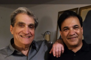 S. Abbas Raza, founding editor of 3QD, with American poet Robert Pinsky. Credit: