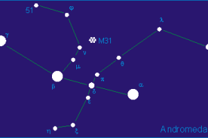 The Andromeda constellation, of which Zeta And is part. Credit: Wikimedia Commons