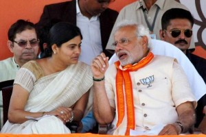 Anupriya Patel with Narendra Modi. Credit: PTI/Files