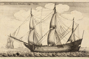 A Dutch trading ship from the late 17th-century. Credit: Wikimedia