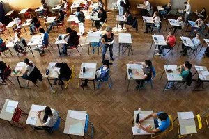 Students writing the IIT entrance exam. Credit: Reuters