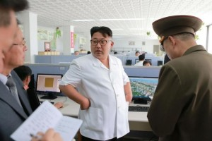 North Korean leader Kim Jong Un provides field guidance to the Paektusan Architectural Institute in this undated photo released by North Korea's Korean Central News Agency (KCNA) in Pyongyang July 14, 2016. Credit: Reuters