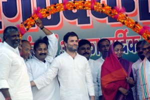 Rahul Gandhi with Meira Kumar during an election rally in Bihar in October, 2015. Credit: PTI
