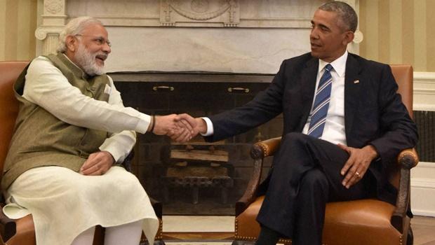 File picture of Prime Minister Narendra Modi and President Obama in the White House in June. Credit : PTI