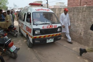 "An ambulance carries the body of social media celebrity Qandeel Baloch who was strangled in what appeared to be an ""honour killing,"" in Multan, Pakistan July 16, 2016.  Credit: Reuters"