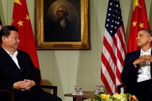 US President Barack Obama meets with Chinese President Xi Jinping. Credit:   Reuters/Kevin Lamarque