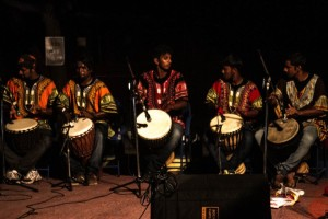Playing the djembe. Credit: Javed Iqbal