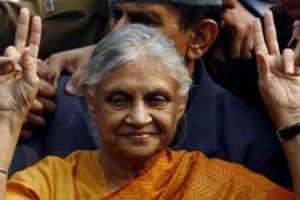 File picture of Sheila Dikshit, the Congress party's chief ministerial candidate in Uttar Pradesh. Credit: PTI