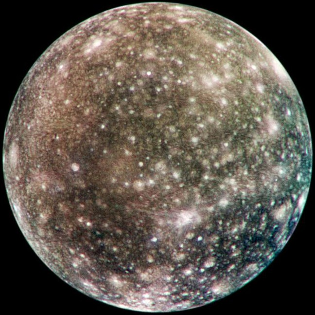 Callisto, one of the four Galilean moons. Credit: NASA