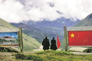 The India-China border at Nathula. Credit: PTI
