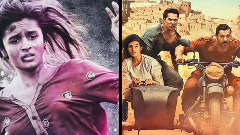 Posters from Udta Punjab(left) and Dishoom (right)