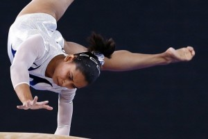 Dipa Karmakar in action. Source: Twitter