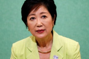 Former defense minister Yuriko Koike, a candidate planning to run in the Tokyo Governor election, attends a joint news conference with other potential candidates at the Japan National Press Club in Tokyo, Japan July 13, 2016. Issei Kato, Reuters/Files