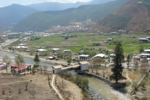 View of Paro from Dzong. Credit: Flickr/hewy CC 2.0
