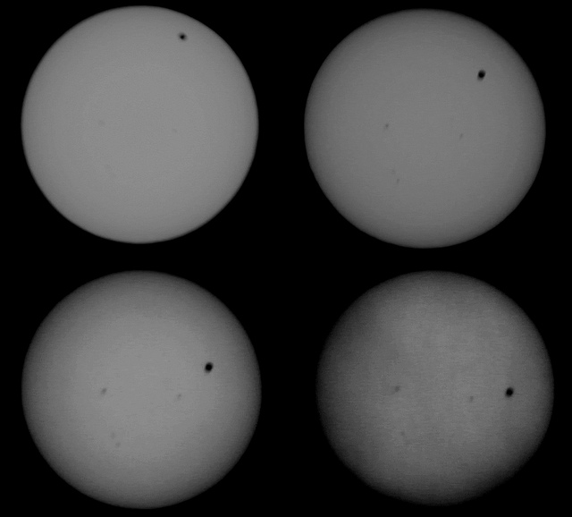 Venus transits against the face of the Sun, June 2012. Credit: bunsky/Flickr, CC BY 2.0