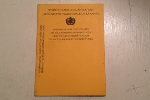 A WHO Yellow Vaccination book. Credit: IPS