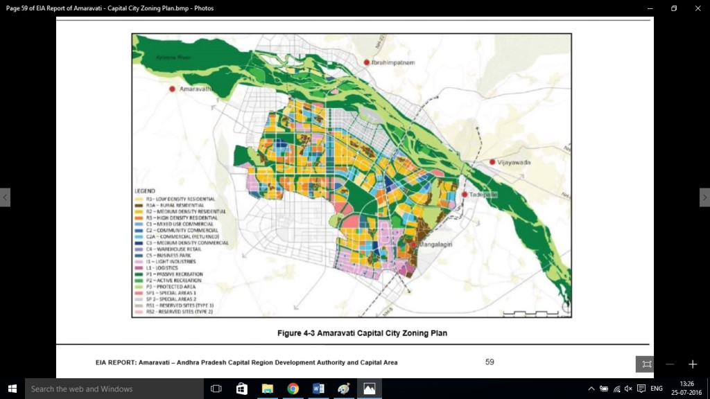 Amaravati an example of flawed urban policy map 3 amaravati capital city with seed capital in grey which comes on flood plains credit eia report malvernweather Image collections