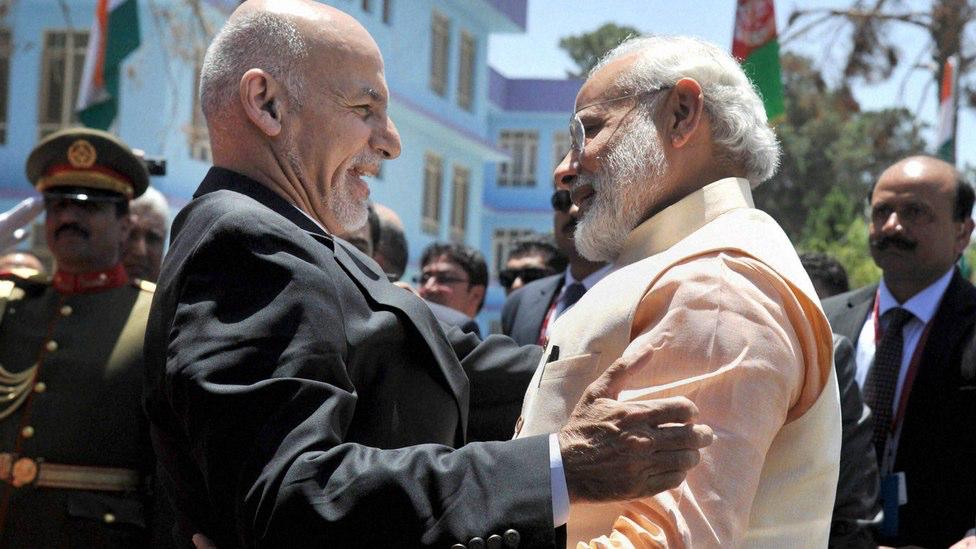 Afghanistan's President Ashraf Ghani with Indian Prime Minister Narendra Modi. Credit: PTI