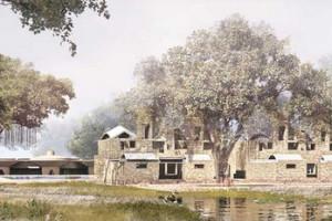 An image of Nalanda University's upcoming campus. Credit: nalandauniv.edu.in