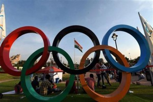 An Olympic carnival at New Delhi's Central Park. Credit: PTI